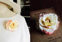 バラのお花のブローチ